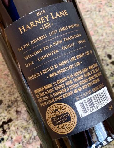 Harney Lane Zinfandel Certified Green