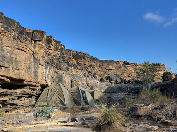 Camping on a ledge above the Fish River