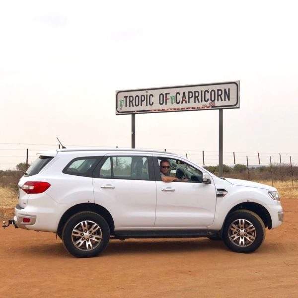 Crossing the Tropic of Capricorn, Namibia