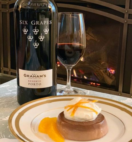 Graham's Six Grapes Reserve Port and Chocolate Orange Panna Cotta