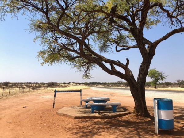 Rest Stop along the B1 highway Namibia