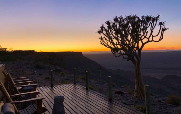 Sunrise over the Fish River Canyon
