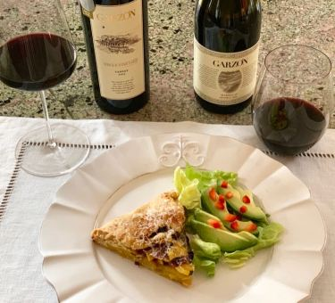Bodega Garzón Tannat and Marselan with Curried Squash Galette