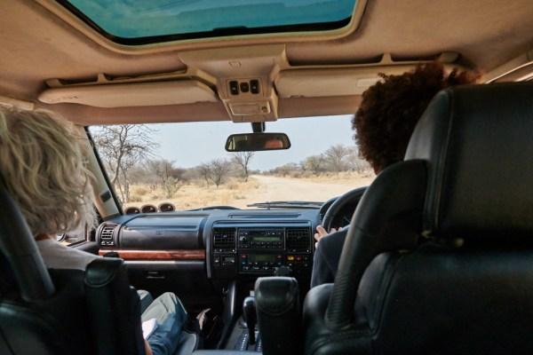 Driving near Omaruru