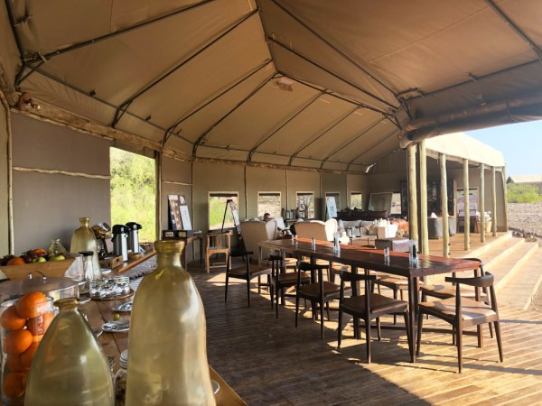 Dining room at Desert Rhino Camp