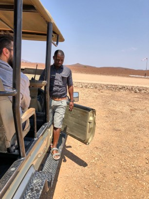 Johannes, our guide at Desert Rhino Camp