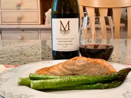 Montinore Estate Pinot Noir and Maple Chipotle Salmon