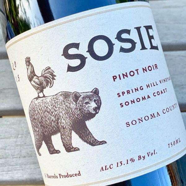 2015 Sosie Spring Hill Vineyard Pinot Noir, Sonoma Coast, Sonoma County