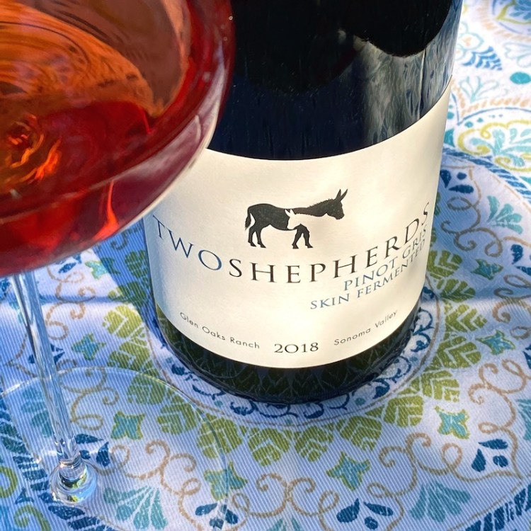 2018 Two Shepherds Skin Fermented Pinot Gris, Glen Oaks Ranch, Sonoma Valley photo