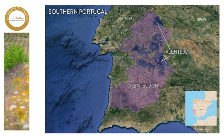 Alentejo Wine Region map provided by Wines of Alentejo photo