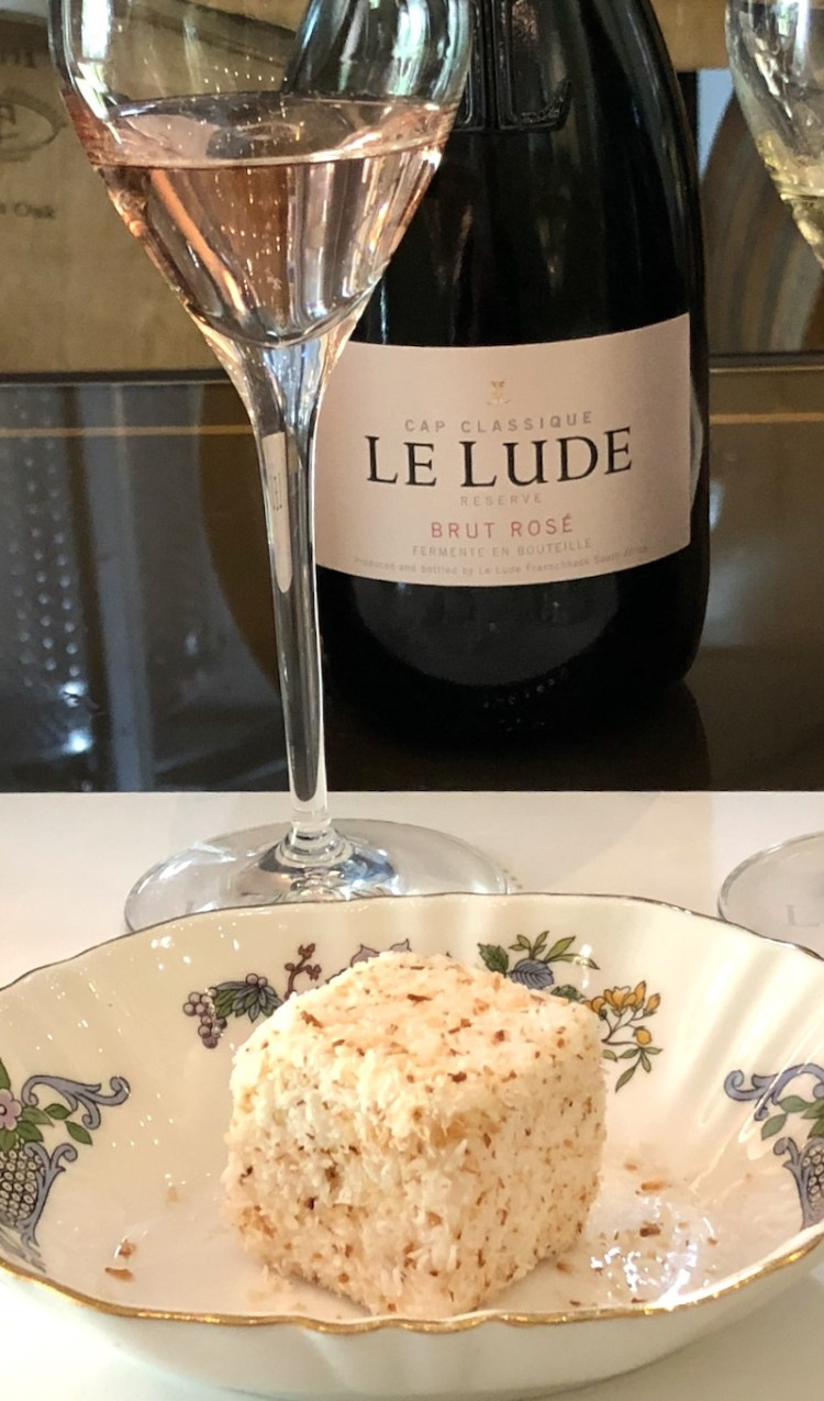Le Lude Brut Rosé with toasted coconut marshmallow photo