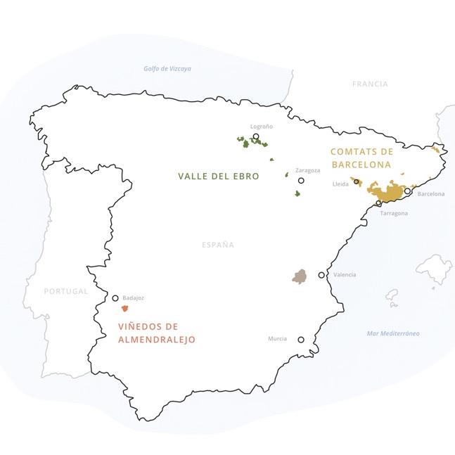 Cava production zone map