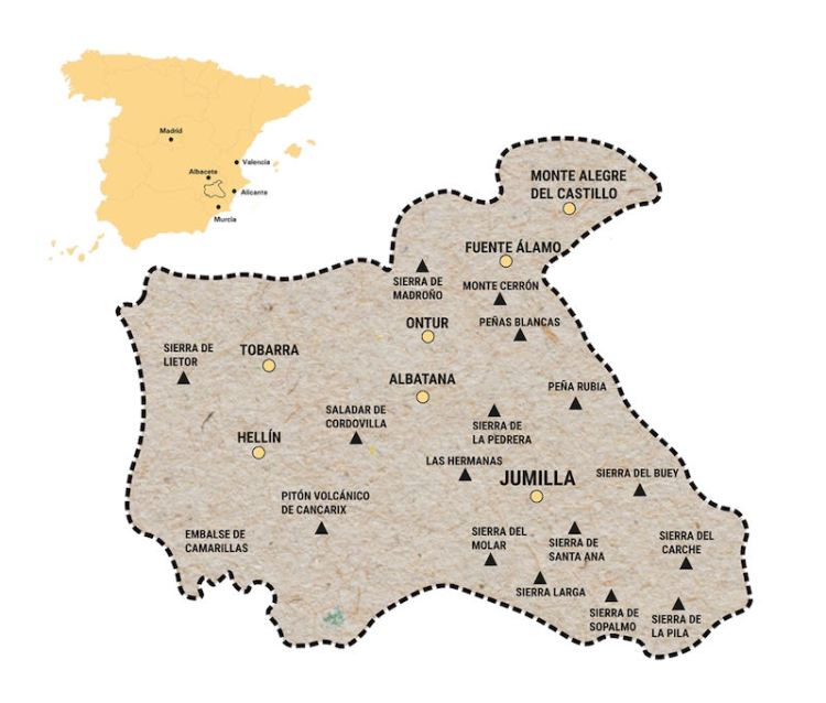 Jumilla Wine Region Map photo