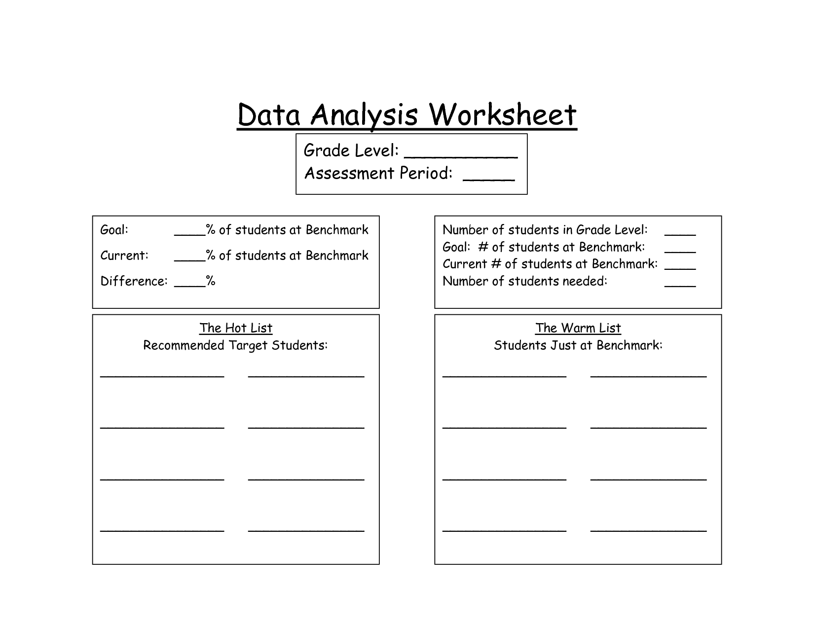 Dataysis Worksheet Biological Science Picture