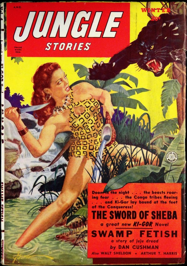 Jungle Stories Vol. 4, No. 9 (Winter 1949-50). Cover by George Gross