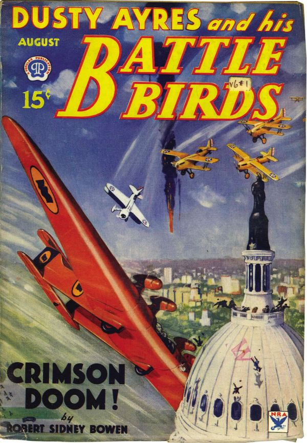 Dusty Ayres and His Battle Birds August 1934