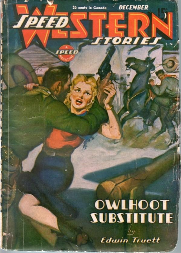 Speed Western Stories December 1945