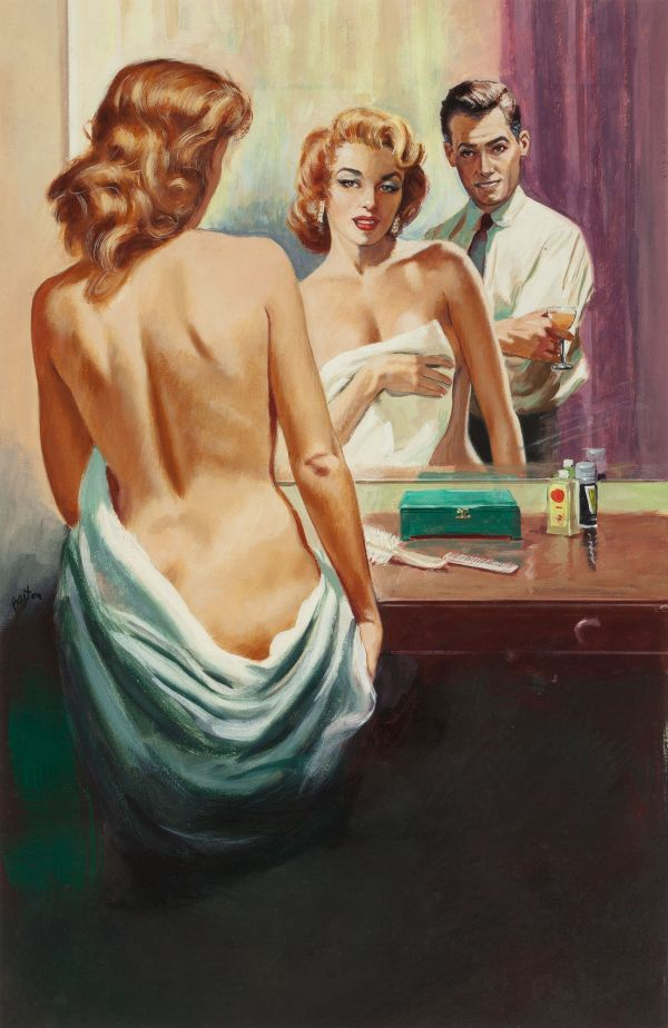 Nude in the Mirror (A Ghost, Passion, & Suspense), paperback cover, 1959