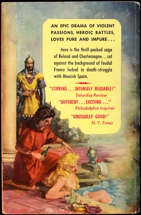 Back Cover: Graphic G-208 (1955). Cover Art by Robert Maguire
