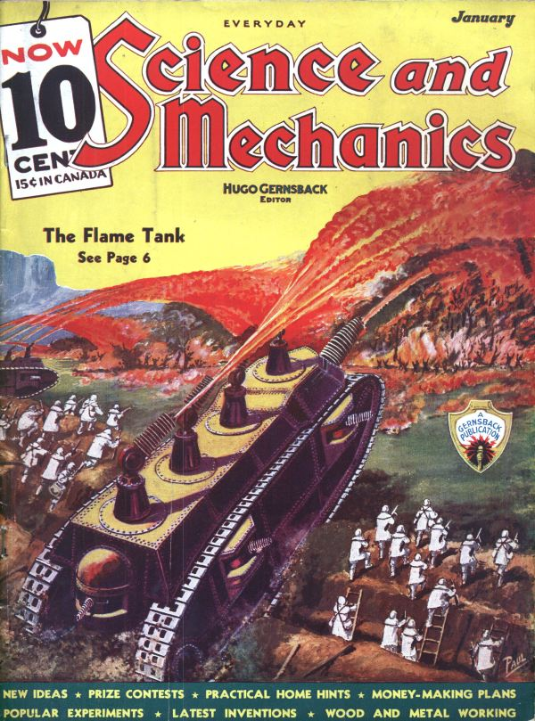 Everyday Science and Mechanics cover, January 1936