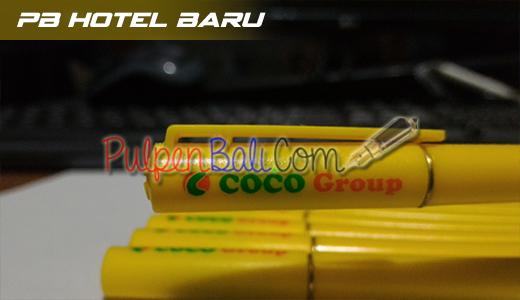 pulpen promosi model hotel baru cetak logo coco group