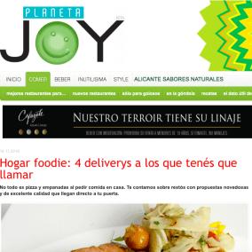 Hogar foodie: deliverys a los que tenés que llamar por Joy Planeta