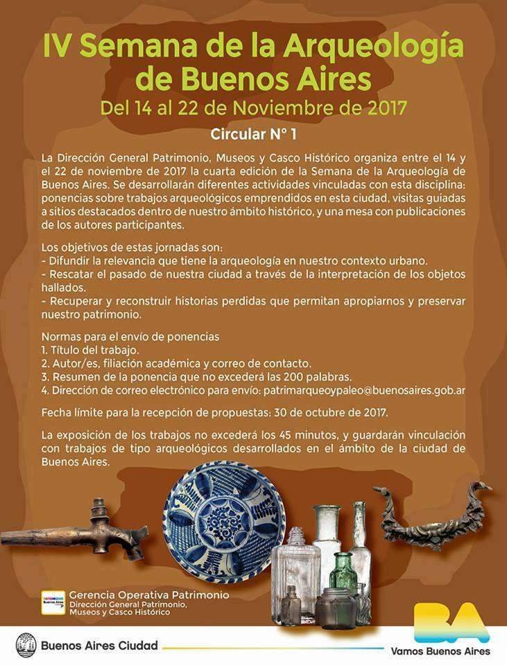 IV Semana de la Arqueología de Buenos Aires @ Pulperia Quilapan | Buenos Aires | Argentina