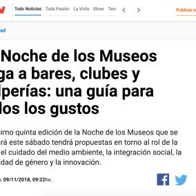 """<span class=""""live-editor-title live-editor-title-29719"""" data-post-id=""""29719"""" data-post-date=""""2018-11-09 14:29:23"""">La Noche de los Museos llega a bares, clubes y pulperías: una guía para todos los gustos</span>"""