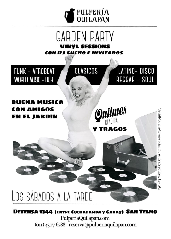 Garden Party Vinilo Sessions con Quilmes clásica @ Pulpería Quilapán | Buenos Aires | Argentina
