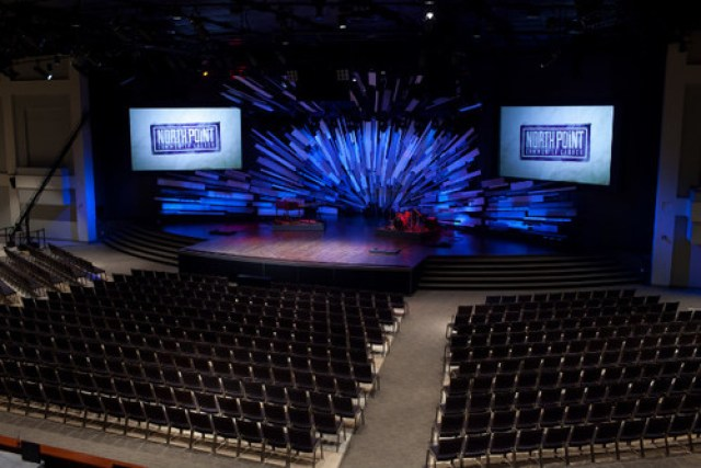 North Point Church ... as it will look on Christmas Sunday