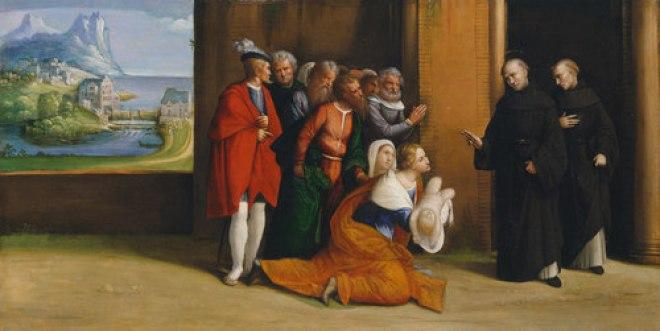 St. Nicholas of Tolentino Reviving a Child by Garofalo, circa 1530
