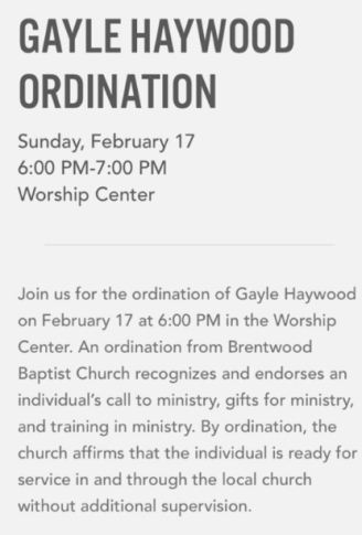 Southern Baptist MegaChurch Ordains Female Pastor