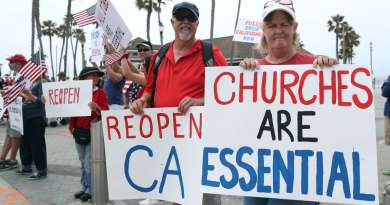 California Churches Going Back on Lockdown, Ending In-Person Services