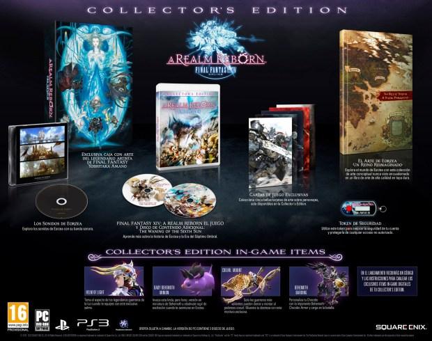 Final Fantasy XIV contenidos edicion coleccionista
