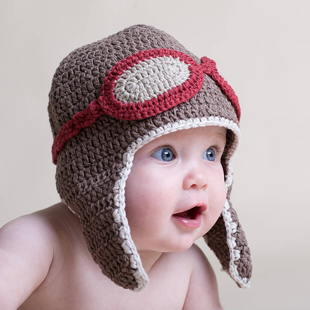 Crochet Baby Aviator Hat