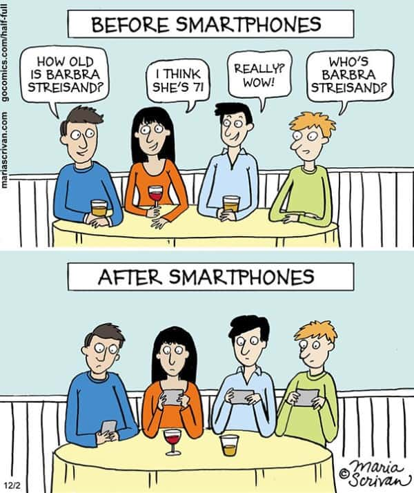 These 40 Cartoons Perfectly Illustrate How Smartphones Have Taken Over Our Lives 22