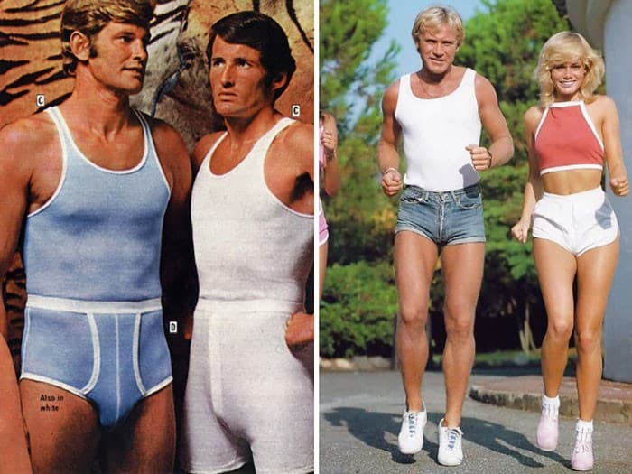 70s mens jean shorts
