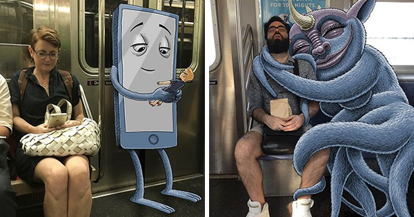 This Artist Draws Friendly Monsters Next To Strangers On ...