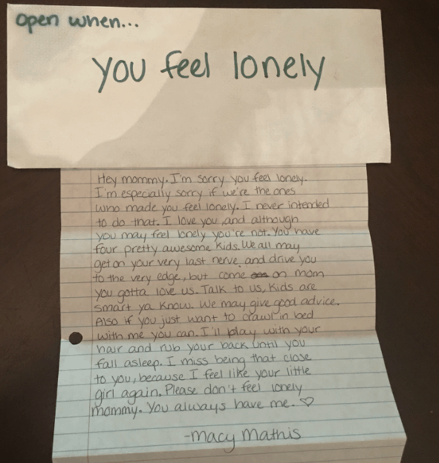 Open When You Feel Lonely Letter For Best Friend