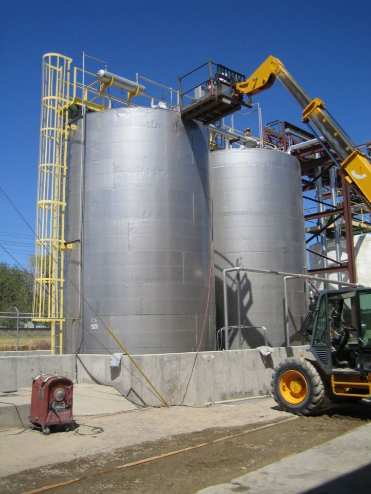 food oil blending tanks with pulsair