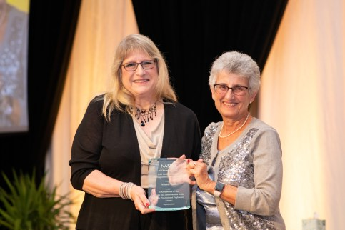 2019 Mazzone Award winner, Norma Hall and 2019 Mazzone Committee Chair, Monica Wilkes