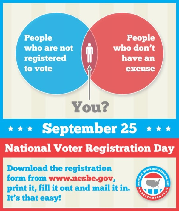 National Voter Registration Day Today! | The Progressive Pulse