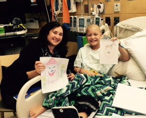 Art therapist Rosalie Frankel with 11-year-old patient Jaylin Israel-Tompson