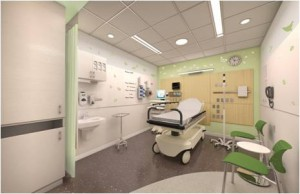 ED Exam Room: One of 38 exam rooms