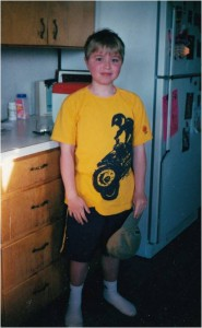 Erik was lucky that he did not experience significant symptoms of Duchenne until age 9. Still, he lost the ability to walk at age 15. Courtesy Karen Twede.