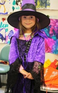 Halloween at the Hospital Jessica as a Witch - Vertical
