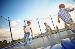 Kids on trampoline