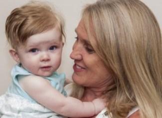 CICU nurse Sherri Kruzner-Rowe with her former patient, Karissa Gossett.