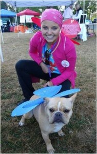 Nina with her dog Oscar at the Run of Hope in 2012.