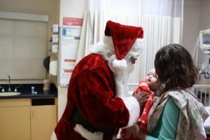 Santa with Ella